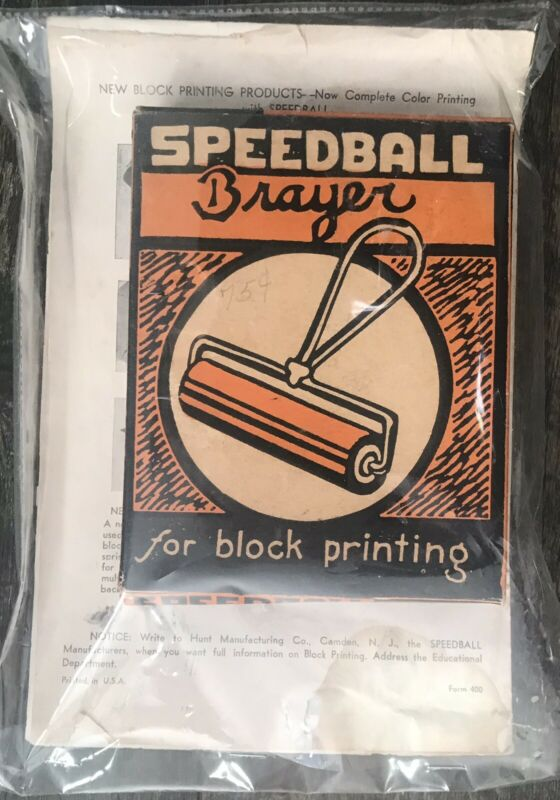 Vintage SPEEDBALL Brayer no 49 Block Printing Made in USA Hunt Pen Co NJ