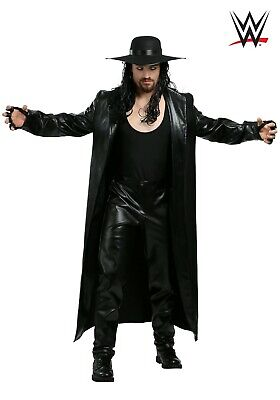 WWE UNDERTAKER MEN'S COSTUME SIZE SMALL (missing shirt & gloves)
