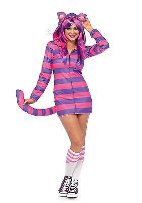 LAG Leg Avenue 85553 Cozy Cheshire Cat Katze Alice Grinsekatze Damen Kostüm (Katze Kostüme Leg)