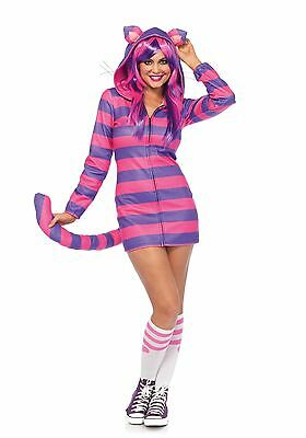Cozy Cheshire Cat Katze Alice Grinsekatze Damen Kostüm XS-L (Damen Cheshire Cat Kostüm)