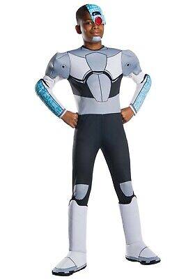 CHILD TEEN TITANS GO! CYBORG COSTUME SIZE SMALL 4-6 (with - Teen Titans Go Kostüm
