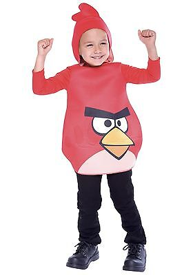 Red Angry Birds Rovio Video Game Child Halloween Costume NWT Toddler 2T](Games Angry Birds Halloween 2)