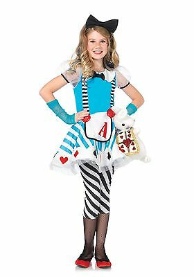 LAG Leg Avenue C48150 Kinder Mädchen Kostüm Alice Kids Wonderland - Alice Kostüm Kind