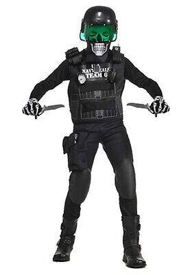 KIDS NAVY SEAL BLACK TEAM 6 COSTUME SIZE MEDIUM or LARGE (with defect) (Navy Seal Costume)