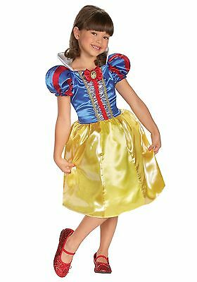 Girls Snow White Costume Halloween Fancy Dress Disney Princess Toddler Childs