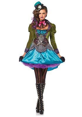LAG 85505 Leg Avenue Damen Fasching Karneval Kostüm Hutmacher Mad Hatter Alice