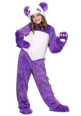 USED FURRY PURPLE PANDA GIRLS COSTUME SIZE SMALL (6) (Furry Costumes For Girls)