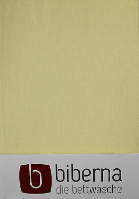 Biberna Biber - Spannbetttuch 180x200 cm - 200x200 cm, extra warm Zitrone