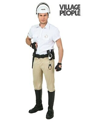 ADULT MEN'S VILLAGE PEOPLE YMCA POLICE OFFICER COP COSTUME SIZE PLUS 2X