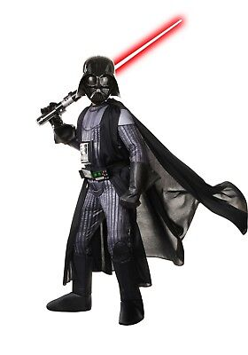 STAR WARS REALISTIC DARTH VADER BOYS COSTUME Size M (8-10) w/ - Realistic Darth Vader Costume
