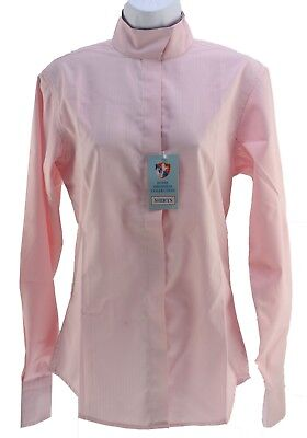 Royal Highness Equestrian Show Shirt Long Sleeve Pink Women's Size 34 New NWT
