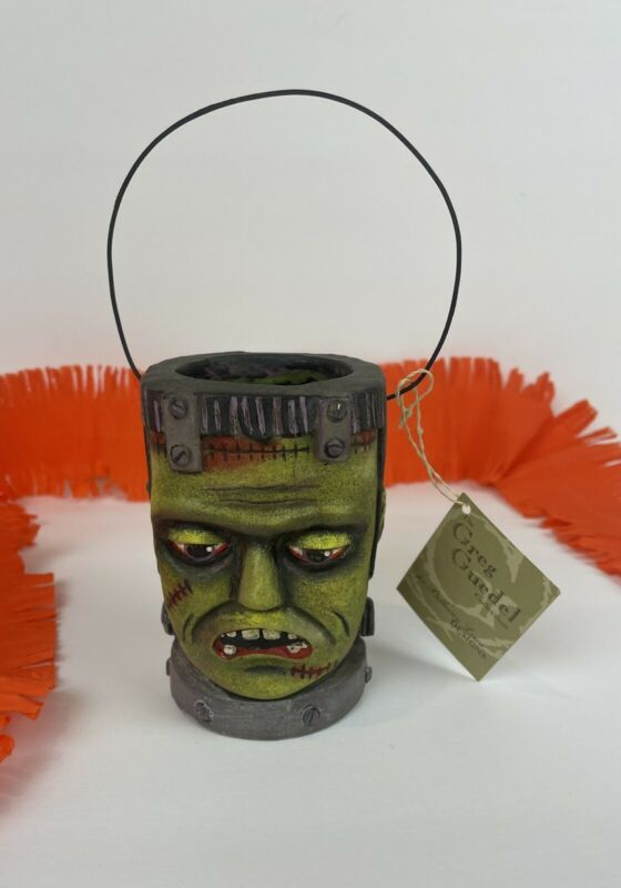 Bethany Lowe Frankenstein Container Bucket Greg Guedel Halloween Retired NWT
