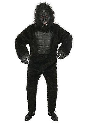 Gorilla Child Halloween Costume (Boys Kids Gorilla Monkey Halloween Costume size Large Full Jumpsuit)
