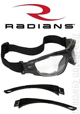 Radians Cuatro 4-in-1 Bifocalclearanti Fog Safety Glasses Goggles Foam Padded