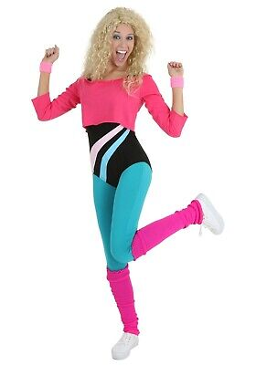 80s Workout Girl Costume (WOMEN'S 80'S WORKOUT DANCE GIRL COSTUME SMALL and MEDIUM (with)