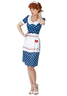 WOMEN'S I LOVE LUCY COSTUME SIZE S/M (with defect)](I Love Lucy Costume)