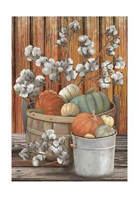 Briarwood Lane Pumpkins and Willows Autumn Garden Flag Primitive Fall Floral ...