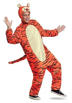 ADULT TIGGER DELUXE WINNIE THE POOH COSTUME SIZE XL (Tigger Pooh Kostüm)