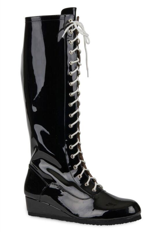 Mens Black Wrestling Boots