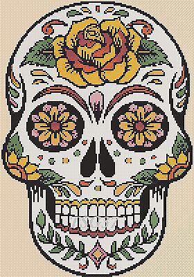 Cross Stitch Chart - sugar skull / day of the dead no. 3- No. 364 .TSG37