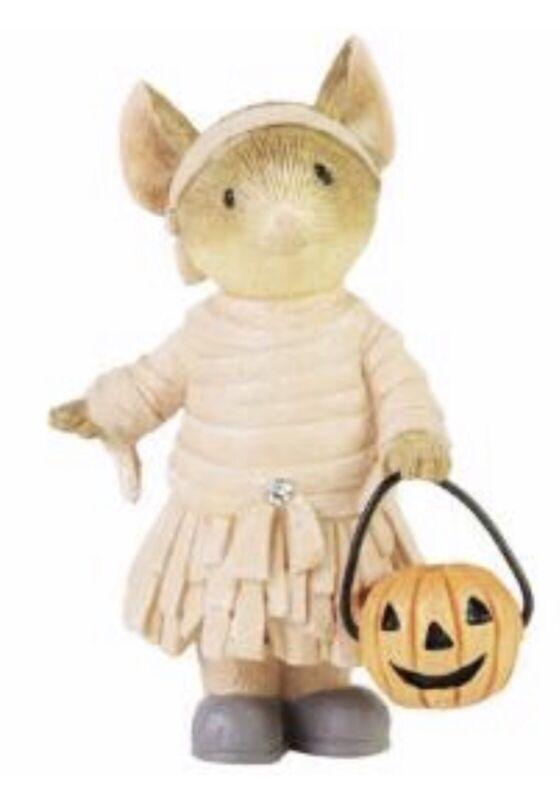 "Tails with Heart Halloween Mummy Mouse Figurine 2""H Enesco NIB 2021 New"