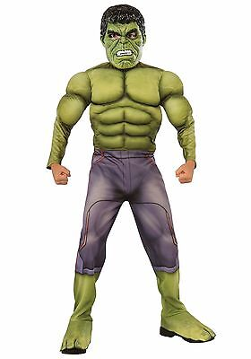 Boys MUSCLE Incredible Hulk Costume Halloween Outfit Boys Child Green M L Kids - Kids Hulk Costumes