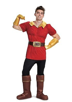 MEN'S DISNEY BEAUTY AND THE BEAST GASTON COSTUME SIZE XXL (w/defect)
