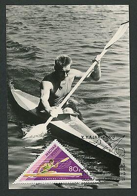 UNGARN MK 1973 SPORT KAJAK KAYAK CANOE KANU MAXIMUMKARTE MAXIMUM CARD MC CM d610