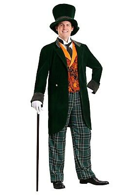 ADULT DELUXE PLUS SIZE WIZARD OF OZ MAD HATTER COSTUME USED SIZE 2X](Plus Size Mad Hatter Costumes)