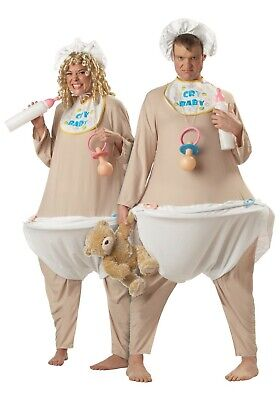 Adult Big Baby Cry Baby Diaper Costume SIZE - Halloween Adult Baby Kostüme
