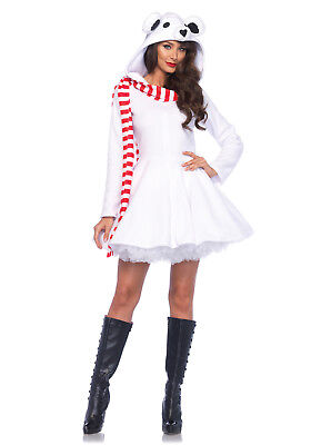 Polar Bear Halloween Costumes (Leg Avenue Cozy Polar Bear Christmas Halloween Costume Cosplay Dress)