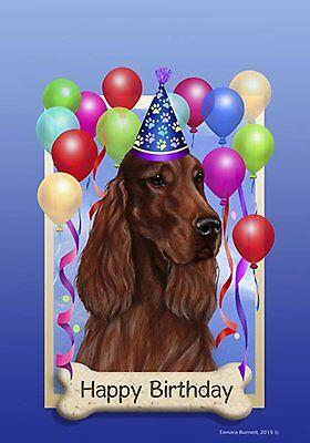 Best of Breed Garden Flag IRISH SETTER Happy Birthday by Tam
