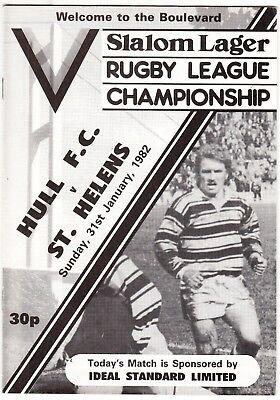Hull FC v St Helens 1981/2 (31 Jan)