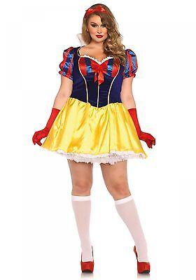 X Damen Kostüm Schneewittchen Snow White Poison Apple XL-4XL (Apple White Kostüm)