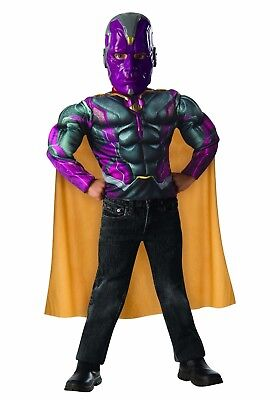 Avengers Age Of Ultron Vision Jungen Muskelkostüm Marvel Größe 4-6 Neue Box ()