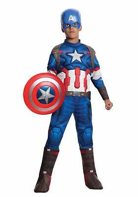 Captain America Brust (Marvel Avengers Captain America Muskel Brust Jungen Halloween Kostüm Groß)