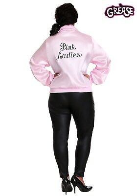 CYBER MONDAY Pink Ladies Jacket Grease for Women Party Costume Scarf Retro 50s (Grease Pink Ladies Jacket Plus Size)