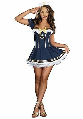 Women's Sexy Girl NAVY PIN UP SAILOR COSTUME Size XL (missing jacket)](Navy Pin Up Girl Costume)