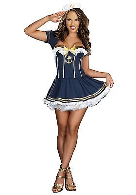 Women's Sexy Girl NAVY PIN UP SAILOR COSTUME Size XL (missing jacket) - Navy Pin Up Girl Costume