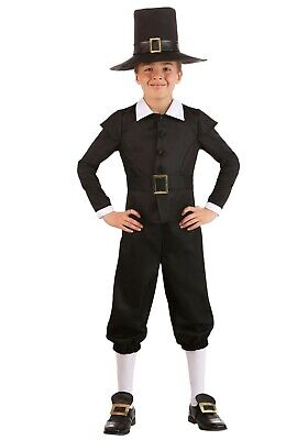 Kids Thanksgiving Costumes (Boy's Kids First Pilgrim Thanksgiving Costume Size Small (with)