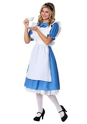 Costume With Blue Dress (Women's Alice in Wonderland Blue Dress Costume Size S (with)