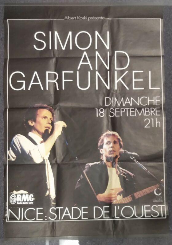 Simon & Garfunkel Summer Evening Tour 1983 CONCERT POSTER LARGE 46 X 30 France
