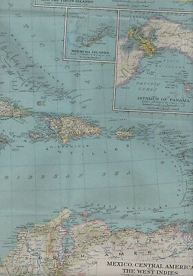 Large Map.1934.  Mexico. Central America.  West Indies.  HL3..242