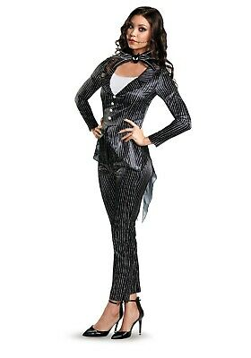 Jack Skellington Female Costume (ADULT FEMALE DELUXE JACK SKELLINGTON COSTUME USED SIZE MEDIUM)