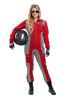 RED RACER JUMPSUIT WOMEN'S COSTUME SIZE S, M,L, XL, 1X (with defect)