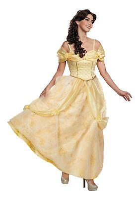 Erwachsene Damen Kostüm Abendkleid Disney (Belle Kleid Erwachsene)