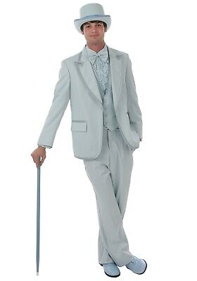 USED Men's Baby Blue Authentic Tuxedo Costume Size SM, MD, LG, XL, 2XL - Baby Costume For Men
