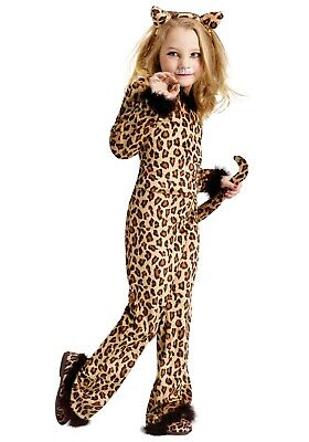 CHILD PRETTY LEOPARD JUMPSUIT COSTUME SIZE MEDIUM 8-10 (with defect) - Pretty Leopard Child Costume