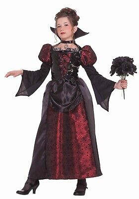 Girls Vampire Costume Toddler Child Teen Halloween Witch Fancy Dress Outfit UK  ()