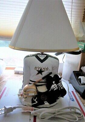 "NHL DALLAS STARS Hockey Jersey Sports Lamp stands 14"" tall,"